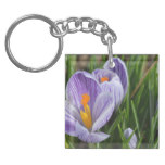Striped Crocus Keychain