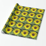 Sunflower Plant Wrapping Paper