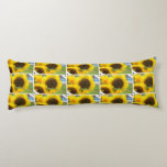 Sunflowers in Bloom Body Pillow