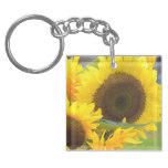 Sunflowers in Bloom Keychain