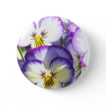 White and Purple Violas Button