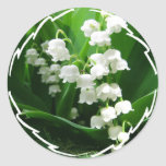 White Lily of the Valley Stickers