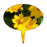Yellow Coreopsis Cake Topper