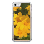 Yellow Coreopsis Carved iPhone 7 Case