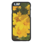 Yellow Coreopsis Carved Maple iPhone 6 Slim Case