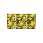 Yellow Coreopsis Checkbook Cover