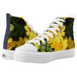 Yellow Coreopsis High-Top Sneakers