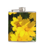 Yellow Coreopsis Hip Flask