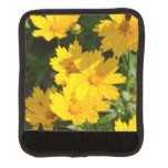 Yellow Coreopsis Luggage Handle Wrap