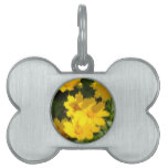 Yellow Coreopsis Pet ID Tag