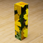 Yellow Coreopsis Wine Gift Box