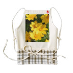 Yellow Coreopsis Zazzle HEART Apron